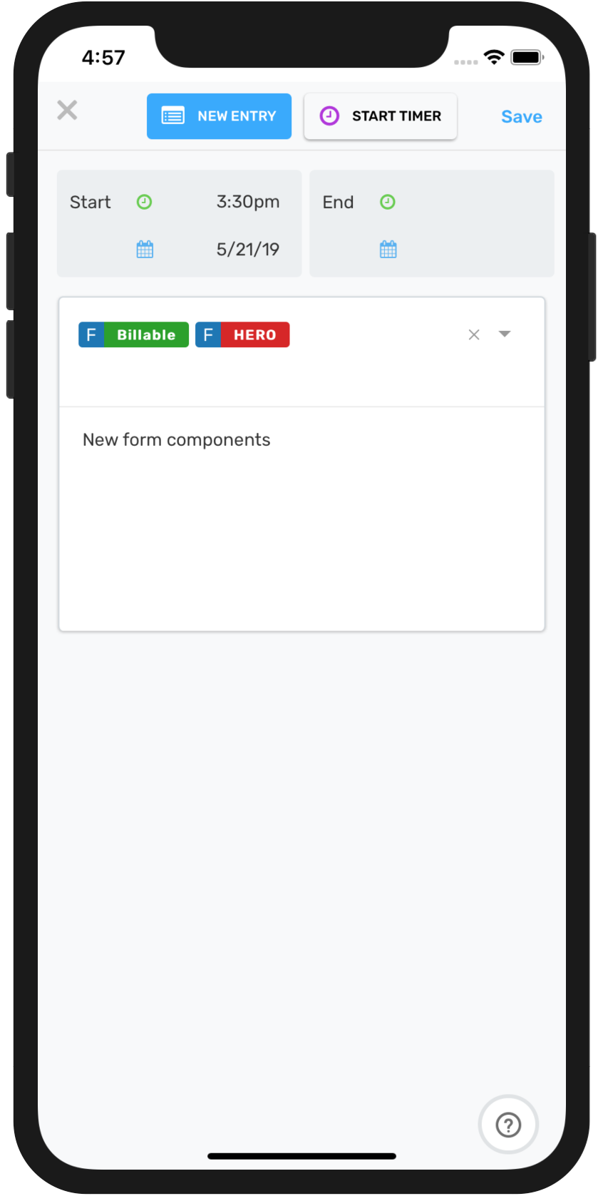 Shoutbase Mobile iOS Personal Dashboard